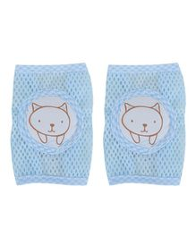 Kassy Pop Anti-Slip Knee Pads Kitty Print - Blue