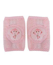 Kassy Pop Anti-Slip Knee Pads Monkey Print - Pink