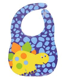 Kassy Pop Waterproof Bib Dinosaur Print - Blue