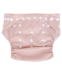 Kassy Pop Reusable Diaper Cover With Cotton Insert - Light Peach
