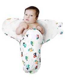 Kassy Pop Adjustable Swaddle Wrap Vehicle Print - White