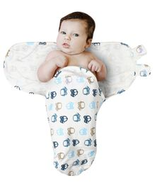 Kassy Pop Adjustable Swaddle Wrap Car Print - Off White