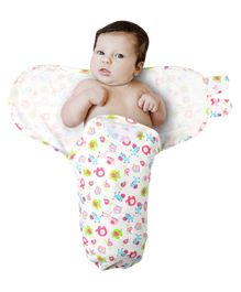 Kassy Pop Adjustable Swaddle Wrap Animal Print - White