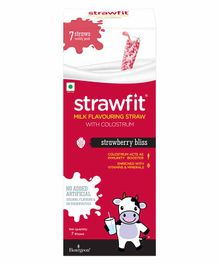 Strawfit Strawberry Milk Flavoring Straws With Colostrum - 7 Pieces
