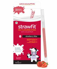 Strawfit Strawberry Milk Flavoring Straws With Colostrum - 30 Pieces