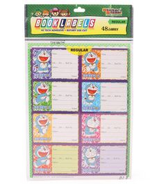 Sticker Bazaar Doraemon Book Labels Multicolor - (6 Sheets) 48 Labels