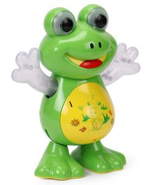Musical Dancing Frog With Light - Green