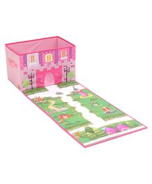 Ramson Princess Castle Storage Box With Play Mat - Pink Green