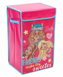 Barbie Folding Toy Storage Bin Box - Pink