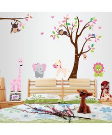 Syga Trees & Animals Wall Sticker - Multicolor