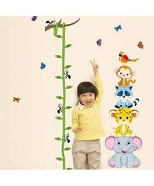Syga Height Measurement PVC Vinyl Wall Sticker - Multicolor