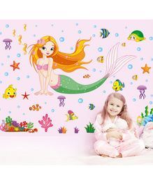 Syga Mermaid Wall Sticker - Multicolour