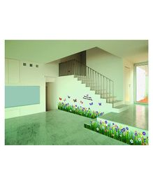 Syga Floral Meadow PVC Vinyl Wall Sticker - Green