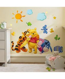 Syga Pooh & Friends PVC Vinyl Wall Sticker - Multicolour