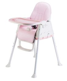 Syga Baby High Chair With Padded Seat - Pink