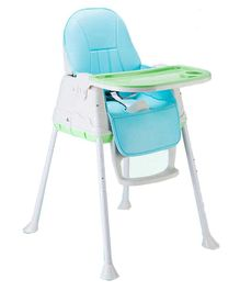Syga Baby High Chair With Padded Seat - Blue Green