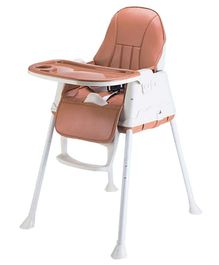 Syga Baby High Chair With Padded Seat - Brown