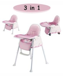 Syga 3 in 1 Cushioned High Chair - Pink