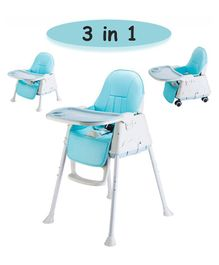 Syga 3 in 1 Cushioned High Chair - Blue