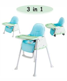 Syga 3 in 1 Cushioned High Chair - Blue Green