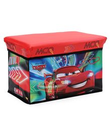 Disney Pixer Cars Folding Storage Sitting Bin - Red
