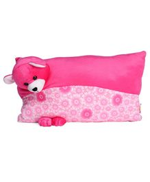 Funzoo Teddy Bear Soft Toy Pillow - Pink