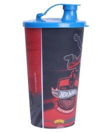 Hot Wheels Big Plastic Cup With Lid Multicolour