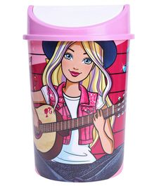 Barbie Plastic Swing Bin With Lid - Multicolour