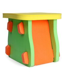 Funjoy Happy Seat Foam Stool - Green Orange