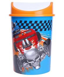 Hot Wheels Plastic Dustbin With Lid - Blue