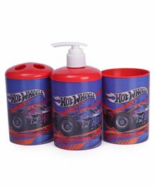 Hot Wheels Bathroom Accessories Combo Set - Blue