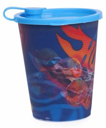 Hot Wheels Tumbler With Lid 3D Print Design Blue - 400 ml