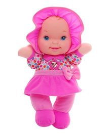 Baby's First Giggles Doll Fuchsia Pink - Height 33 cm