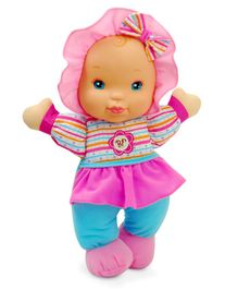 Baby's First Giggles Doll in Striped Top - Height 33 cm