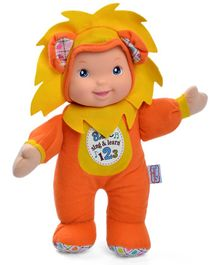 Baby's First Sing & Learn Lion Doll Orange - Height 28 cm