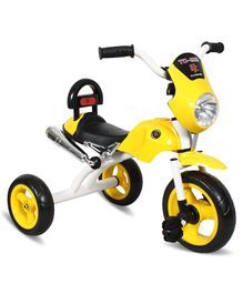 EZ' Playmates Bike Style Tricycle With Light & Music - Yellow