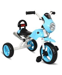 EZ' Playmates Bike Style Tricycle With Light & Music - Light Blue