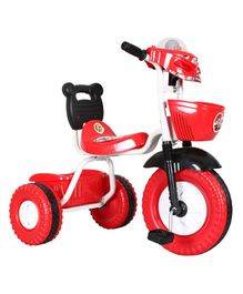 EZ' Playmates Bike Style Tricycle With Front & Rear Basket - Red