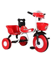 EZ' Playmates Double Seat Tricycle With Basket - Red