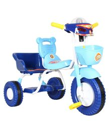 EZ' Playmates Double Seat Tricycle With Basket - Blue