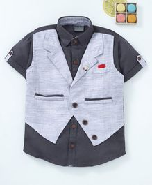 Rikidoos Waist Coat Attach Shirt - Grey