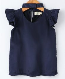 Pikaboo Solid Short Sleeves Top - Navy Blue