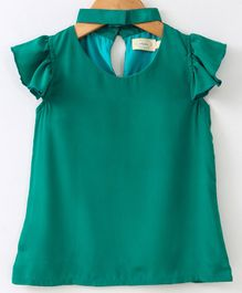 Pikaboo Solid Short Sleeves Top - Green