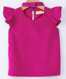 Pikaboo Solid Short Sleeves Top - Pink