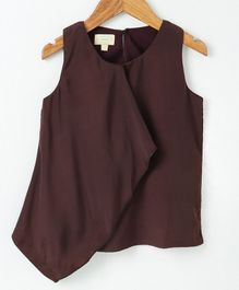 Pikaboo Solid Sleeveless Top - Brown