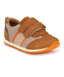 Tuskey Double Velcro Closure Casual Shoes - Brown
