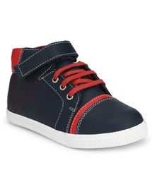 Tuskey Velcro Closure Casual Shoes With Contrast Strings - Navy Blue