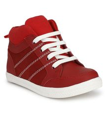 Tuskey Lace Up Closure Casual Shoes - Red