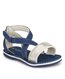 Tuskey Criss Cross Front Velcro Closure Sandals - Blue