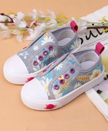 Cute Walk by Babyhug Casual Shoes Floral Print - Grey